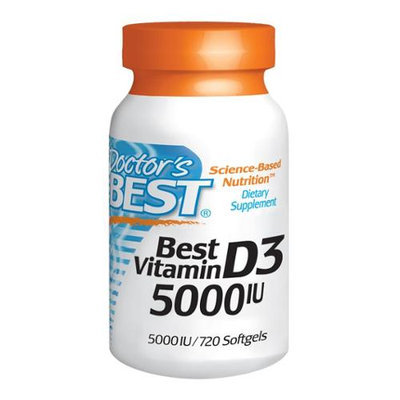 Doctor's Best Vitamin D3 5000 IU - 720 Softgels