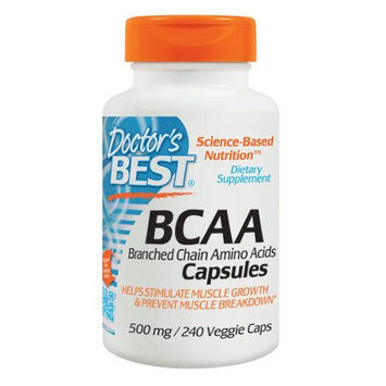 Doctor's Best - BCAA Capsules 500 mg. - 240 Vegetarian Capsules