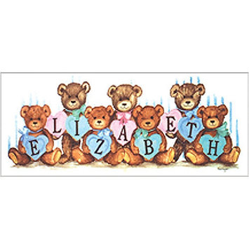 Art 4 Kids Pastel Heart Bears Wall Art