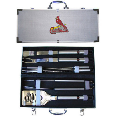 Siskiyou BBQB040B MLB 8 pc BBQ Set - St. Louis Cardinals