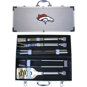 Siskiyou BBQF020B NFL 8-Piece BBQ Set Denver Broncos