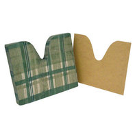 Essential Medical Plaid Coccyx Cushion with Removable Masonite Insert - Size: 16 x 16