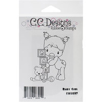 C.c. Designs Swiss Pixie Cling Stamp 3.25