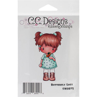 C.c. Designs Swiss Pixie Cling Stamp 3.75