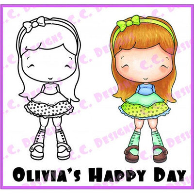 C.c. Designs Oliva's Cling Stamp 1.75