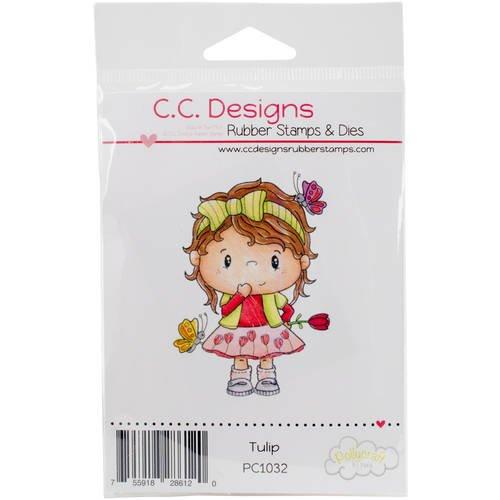 C.c. Designs Pollycraft Cling Stamp 2.5inX1.5inTulip