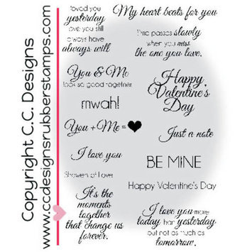 C.c. Designs Amyr's Sentiments Cling Stamps 4