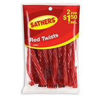 Sathers Red Twists Candy