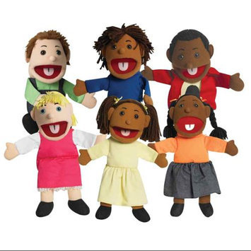 The Children's Factory 6 Piece Diversified Child Puppet Set