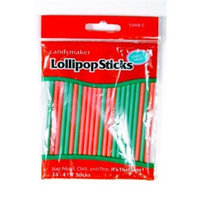 Make N Mold 5000C 4. 5 inch Red and Green Plastic Sticks, Pack of 12