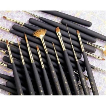 Princeton Series 4050 Synthetic Sable Watercolor Brushes size 4 fan