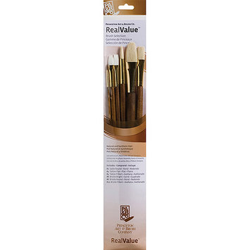 Princeton Artist Brush RealValue Synthetic Sable Bristle Brush (Set of 6)