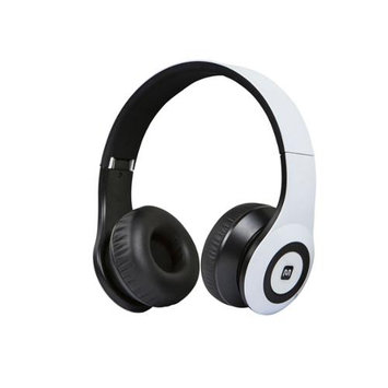 Monoprice Bluetooth On-the-Ear Headphones with Built-in Microphone-White