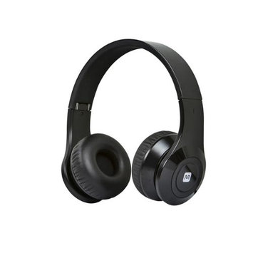 Monoprice Bluetooth On-the-Ear Headphones with Built-in Microphone-Black