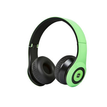 Monoprice Bluetooth On-the-Ear Headphones with Built-in Microphone-Green