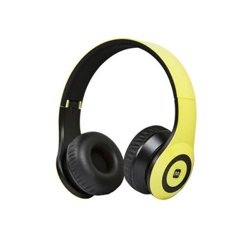 Monoprice Bluetooth On-the-Ear Headphones with Built-in Microphone-Yellow