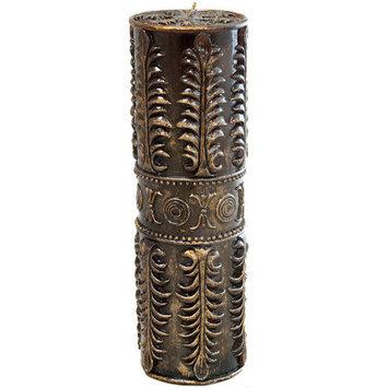 Ec World Imports Sculpted Wax Designer Pillar Candle