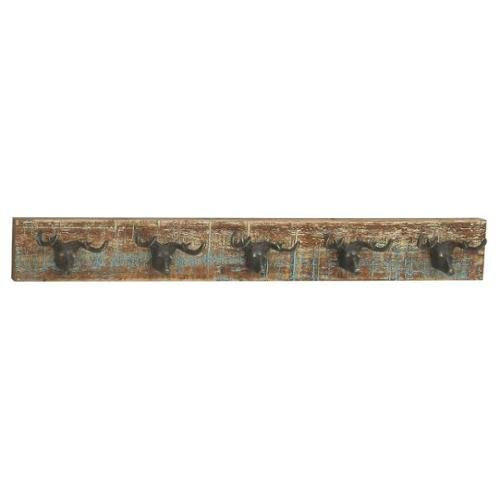 Benzara 95204 Quirky Style Wood Metal Deer Wall Hook