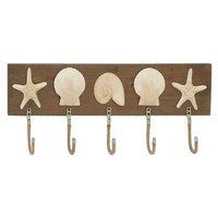 Benzara 97726 Sparkling Wood Metal Wall Hook