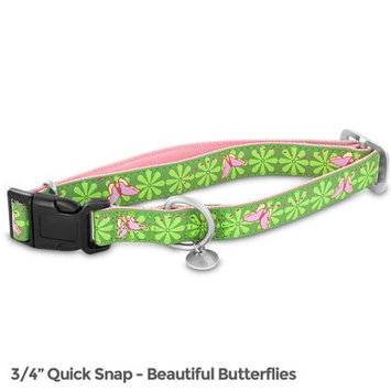 Premier Bark Avenue Quick Snap Collar / Size (14-20 in / Butterflies)