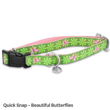 Premier Bark Avenue Quick Snap Collar / Size (17-27 in / Butterfly)