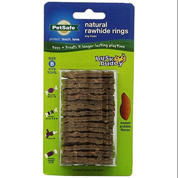 Pet Safe Busy Buddy Rawhide Rings Size B Sweet Potato