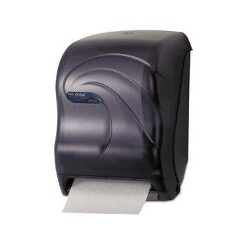 San Jamar T1390TBK Black Oceans Tear-N-Dry Touchless Roll Paper Towel Dispenser