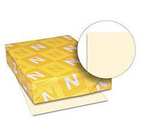 Wausau Paper 49581 Colored Card Stock- 110lb- Ivory- Letter- 250 Sheets/Pack