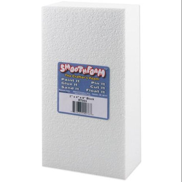 Plasteel Corp Smooth Foam Block 2 X4 X8 1/Pkg-White