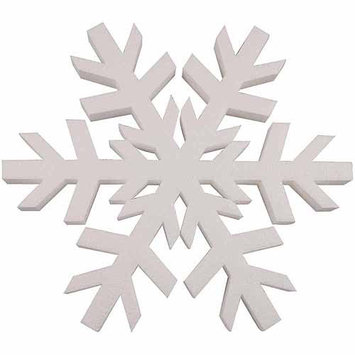 Smoothfoam 438691 Smooth Foam Snowflake 12 in. 1PkgWhite