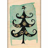 Penny Black Mounted Rubber Stamp, Curly Pine