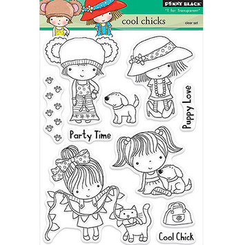 Penny Black Clear Stamps 5inX7.5in Sheet-Cool Chicks