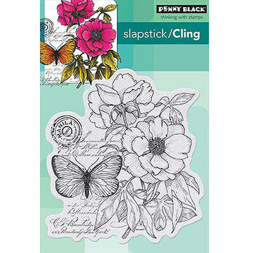 Penny Black PB40276 Penny Black Cling Rubber Stamp 4 in. x 5.25 in. Sheet -Botanical Notes