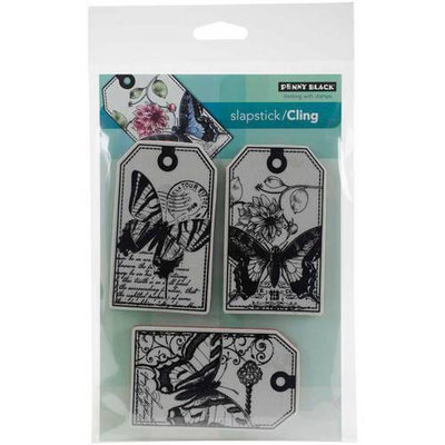 Penny Black Cling Rubber Stamp 5inx6.5in Sheet Butterfly Party