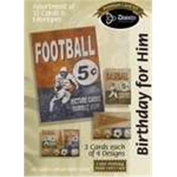 Divinity Boutique 110161 Card Bxd Bday Masculine Football