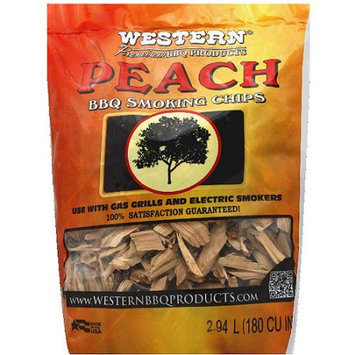 Western Premium BBQ Products Peach BBQ Smoking Chips, 2 lbs, (Pack of 6)