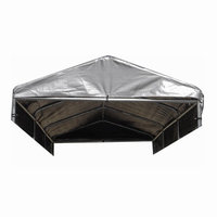 Lucky Dog Weatherguard 4 ft. x 12 ft. Kennel Cover with Frame CL 41297