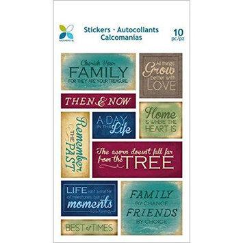 Momenta 20584 Momenta Foam Stickers 4.5 in. x6.5 in. Sheet -Cherish Family