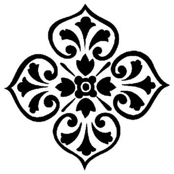 American Traditional 365894 Accent Stencil 4 in. x 5 in. -Medallion
