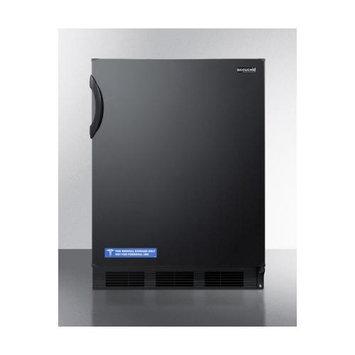 Summit Appliances CT66B Deluxe Under-Counter Refrigerator-Freezer - Black