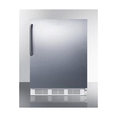 SUMMIT Built-in refrigerator-freezer with cycle defrost, stainless steel door, towel bar handle
