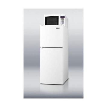 Summit Appliances MRF71 Frost-free refrigerator-freezer-microwave combination in thin-line width