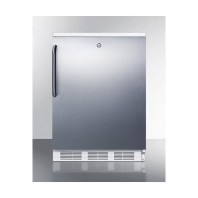 Summit FF6LBISSTB 5.5 Cu. Ft. Stainless Steel Undercounter Built-In Compact Refrigerator