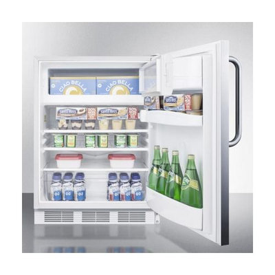 Summit ALB651SSTB 5.1 Cu. Ft. Stainless Steel Undercounter Built-In Compact Refrigerator
