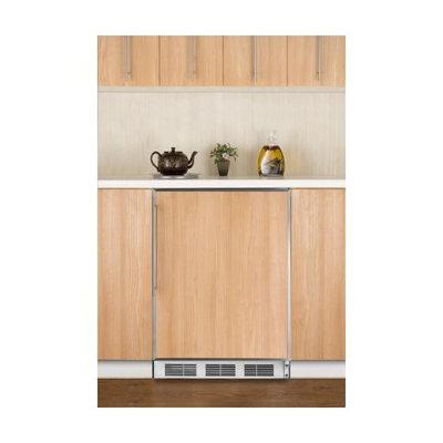 Summit FF6BBIFRADA 5.5 Cu. Ft. Custom Panel Undercounter Built-In Compact Refrigerator