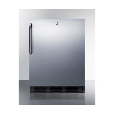 Summit ALB753LBLSSTB 5.5 Cu. Ft. Stainless Steel Undercounter Built-In Compact Refrigerator