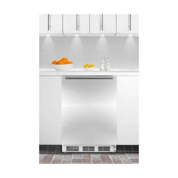 Summit Appliances BI540LSSHH Built-in refrigerator-freezer with cycle defrost, front lock, stainless steel door and HH handle