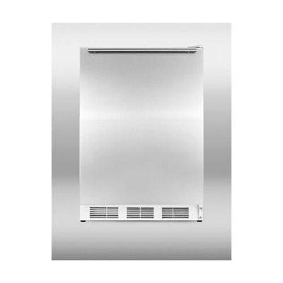 Summit FF6BSSHHADA 5.5 Cu. Ft. Stainless Steel Undercounter Compact Refrigerator