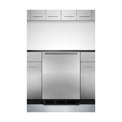 Summit Commercial Series FF7BBISSHH 24 Built-in Compact Refrigerator with Adjustable Glass Shelves