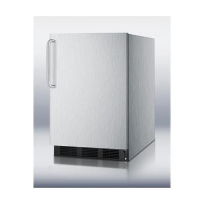 SUMMIT Commercially approved built-in undercounter all-refrigerator in complete stainless steel
